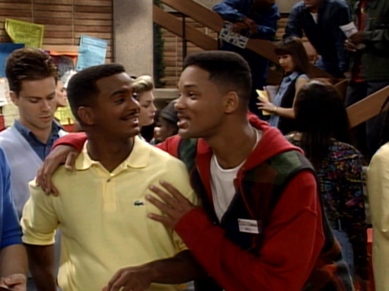 Lacoste Yellow Polo Shirt of Alfonso Ribeiro as Carlton Banks in The Fresh Prince of Bel-Air S04E08 (2)