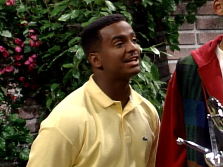 Lacoste Yellow Polo Shirt of Alfonso Ribeiro as Carlton Banks in The Fresh Prince of Bel-Air S04E08 (3)