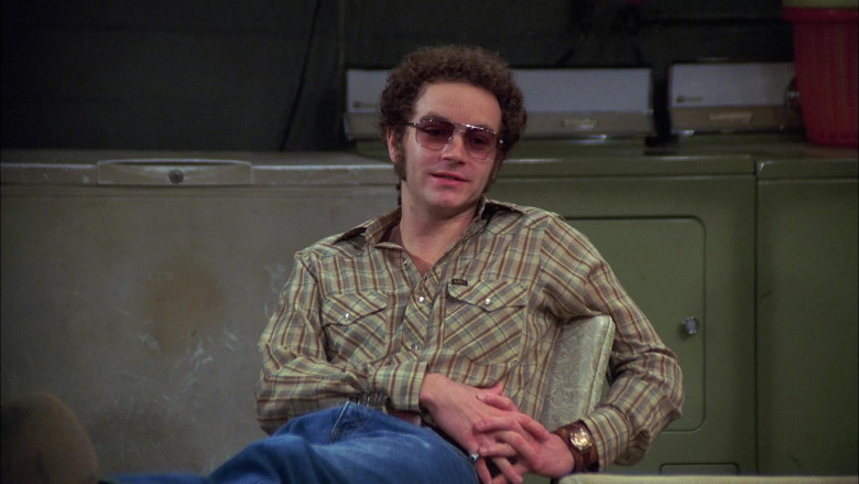 Lee Plaid Long Sleeved Shirt Outfit of Danny Masterson as Steven Hyde in That '70s Show