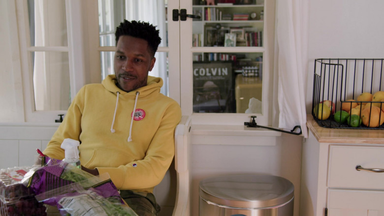 Leslie Odom Jr. as James Wears Champion Yellow Hoodie Outfit in Love in the Time of Corona S01E01 TV Show