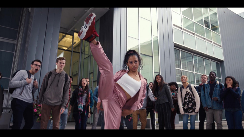 Jordan 6 Red High Top Sneakers of Liza Koshy in Work It (2020)