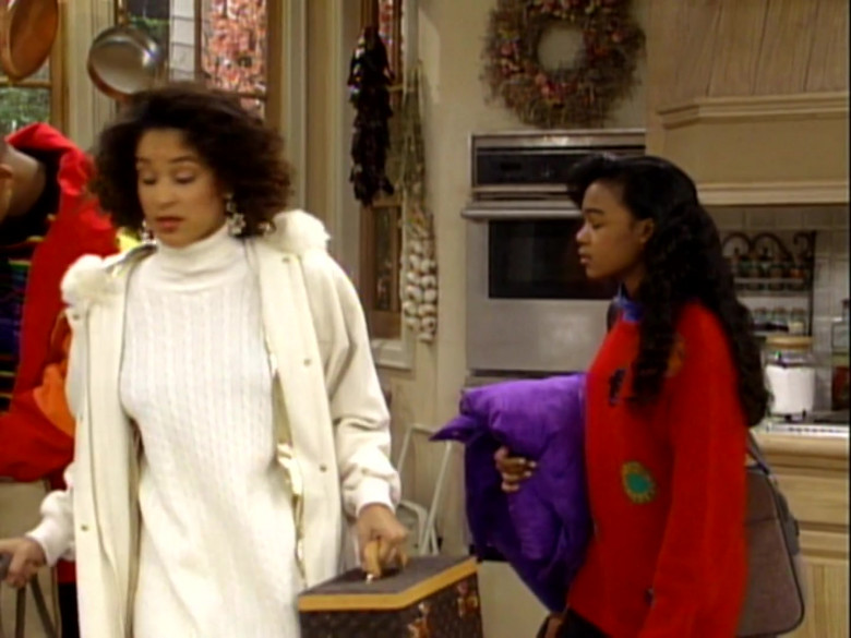 Louis Vuitton Bag of Karyn Parsons as Hilary Banks in The Fresh Prince of Bel-Air S02E13 (2)