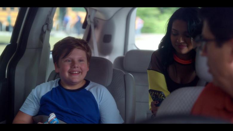 Maxwell Simkins as Kevin Enjoys TruMoo Chocolate Milk in The Sleepover Netflix Film (1)