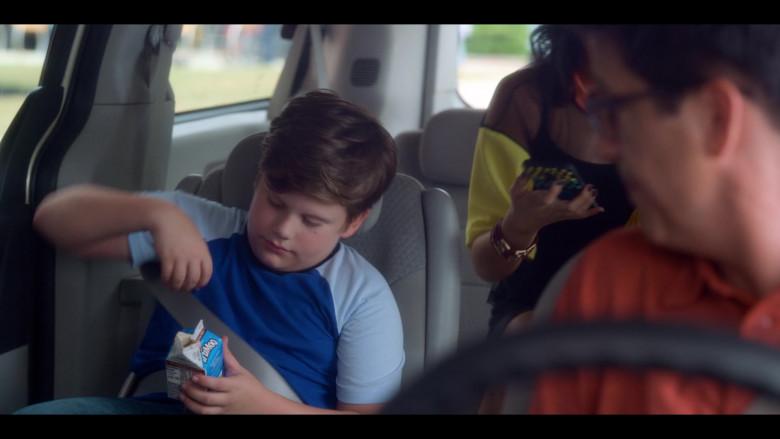 Maxwell Simkins as Kevin Enjoys TruMoo Chocolate Milk in The Sleepover Netflix Film (2)