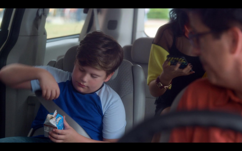 Maxwell Simkins as Kevin Enjoys TruMoo Chocolate Milk in The Sleepover Netflix Film (2)