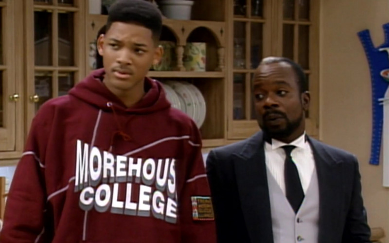 Morehouse College Hoodie Worn by Will Smith in The Fresh Prince of Bel-Air S04E10 (1)