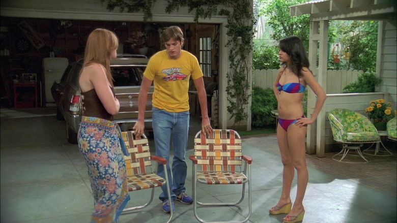 Mustang Yellow T-Shirt Worn by Ashton Kutcher as Michael Kelso in That '70s Show S06E02 (2)