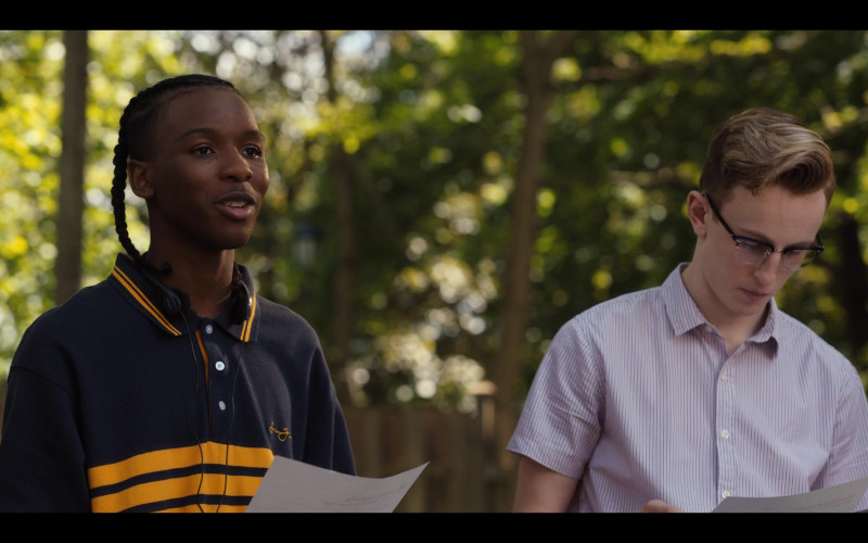Nathaniel Scarlette Wears Sean John Men's Shirt Outfit in Work It Movie (1)
