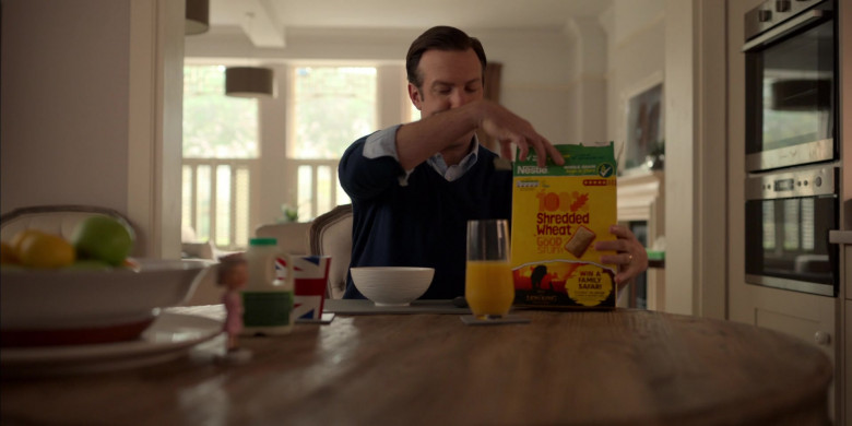 Nestle Shredded Wheat Cereal Enjoyed by Jason Sudeikis in Ted Lasso S01E02 (1)