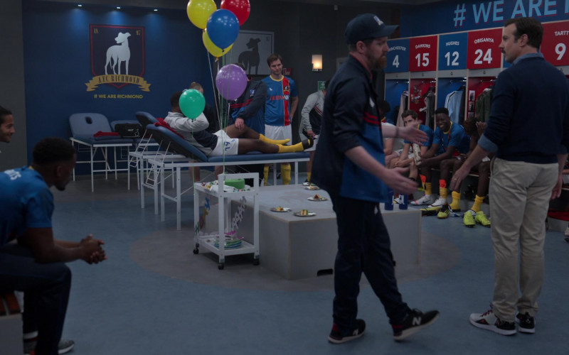 New Balance Sneakers of Brendan Hunt as Coach Beard in Ted Lasso S01E02