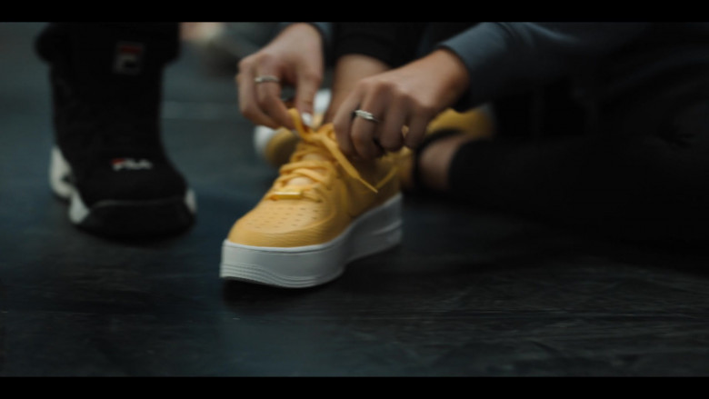 Nike Air Force 1 Sage Low Top Yellow Sneakers in Work It Movie by Netflix