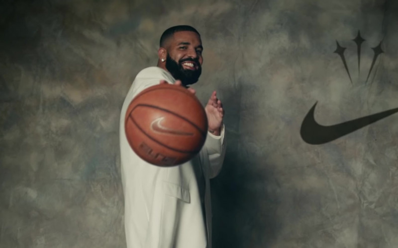 Nike Basketball Held by Drake in Laugh Now Cry Later (2)