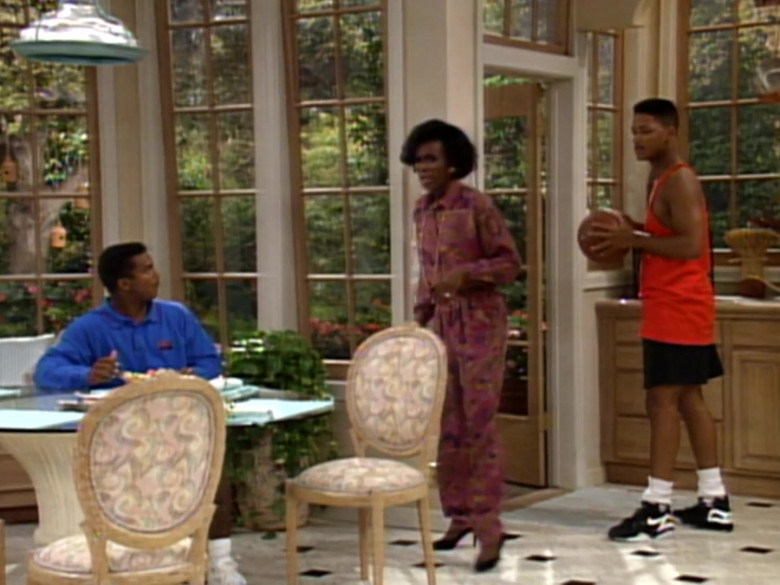 Nike Black Sneakers, Red T-Shirt and Shorts Outfit Worn by Will Smith