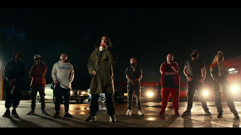 Nike Black Sneakers of Machine Gun Kelly as Newt in Project Power