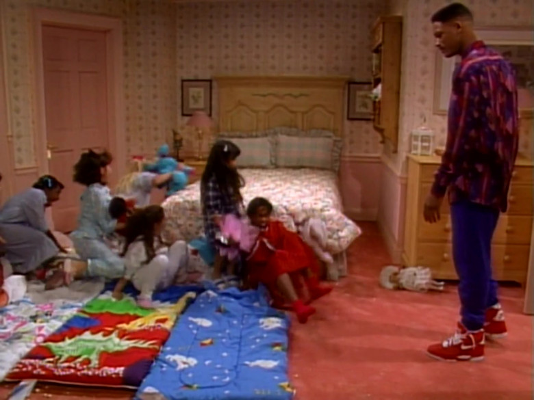 Nike High Top Shoes in Red Worn by Will Smith in The Fresh Prince of Bel-Air S01E14 (1)