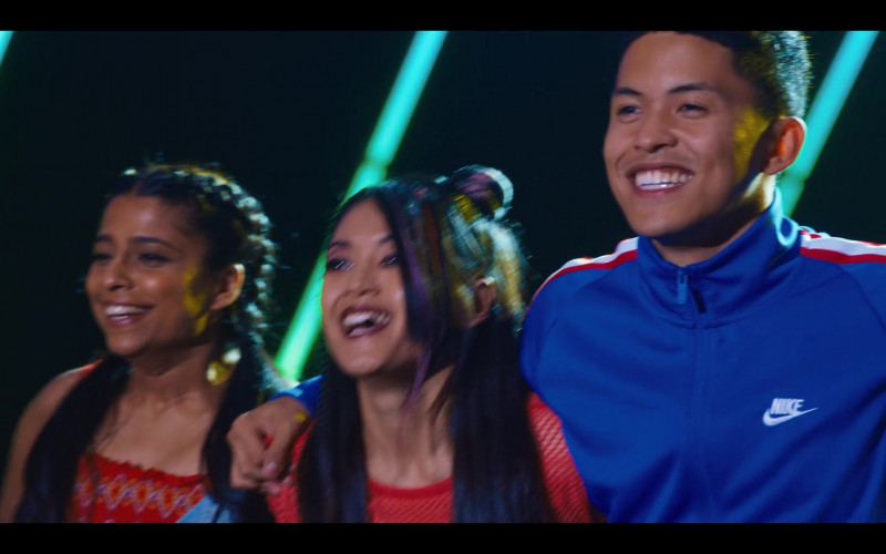 Nike Men's Blue Jacket Outfit of Neil Robles in Work It Movie