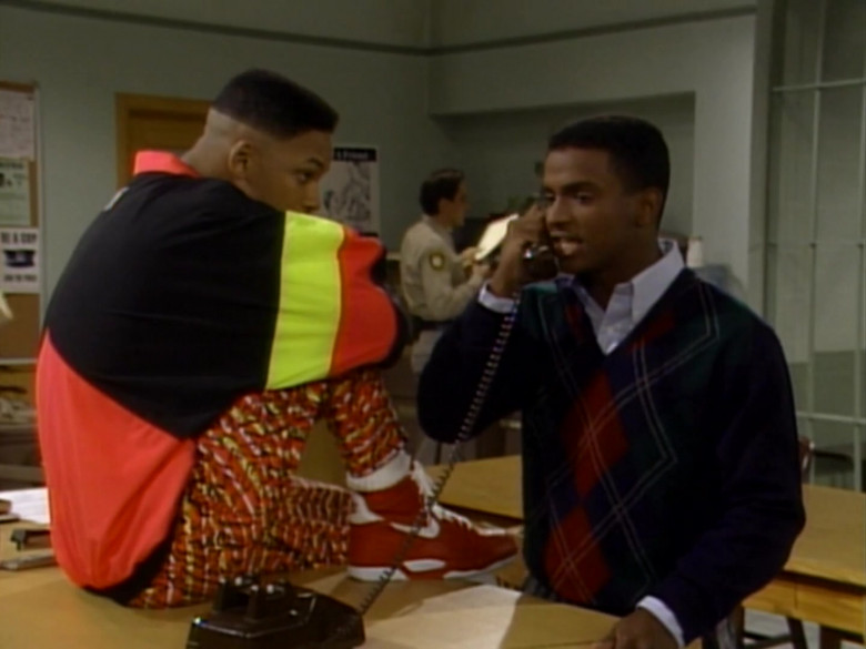 Nike Red High Top Sneakers and Colorblock Jacket of Will Smith (1)
