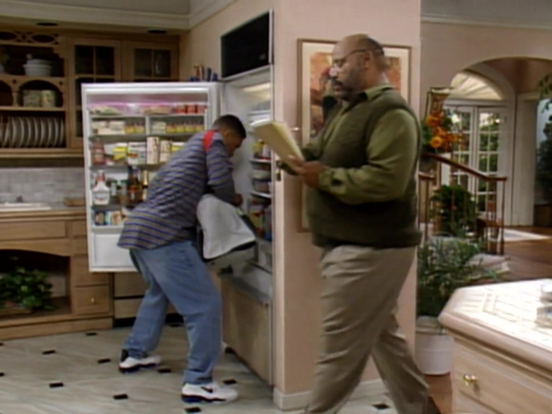 Nike Shoes, Striped Shirt and Jeans Worn by Will Smith in The Fresh Prince of Bel-Air S04E02