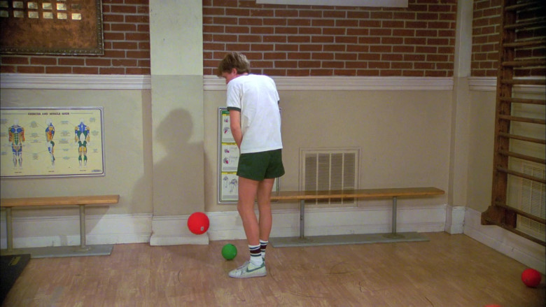 Nike Sneakers, Green Shorts and White T-Shirt Sports Style Outfit Worn by Topher Grace as Eric in That '70s Show