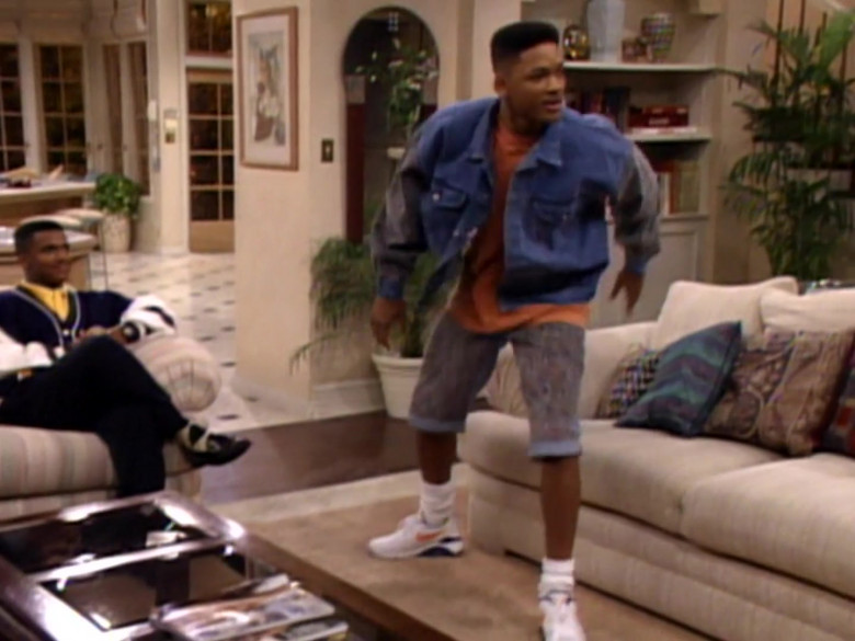 Nike Sneakers and Denim Jacket Outfit of Will Smith in The Fresh Prince of Bel-Air S02E08 (1)