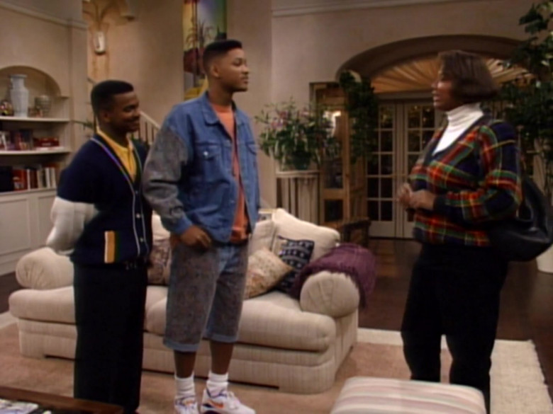 Nike Sneakers and Denim Jacket Outfit of Will Smith in The Fresh Prince of Bel-Air S02E08 (2)