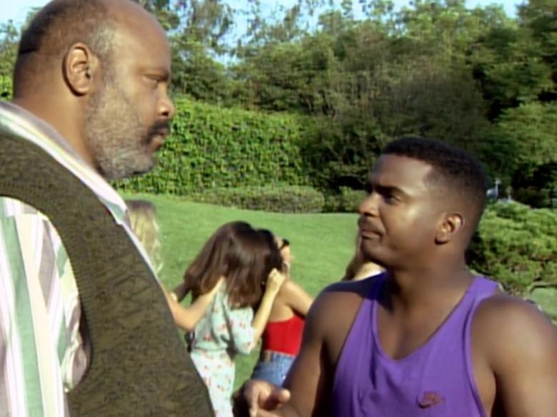 Nike Tee Worn by Alfonso Ribeiro as Carlton in The Fresh Prince of Bel-Air S04E09