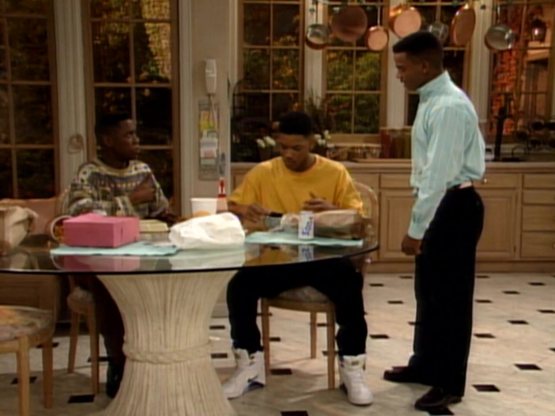 Nike White High Top Sneakers Outfit Idea of Will Smith in The Fresh Prince of Bel-Air S02E15 (1)