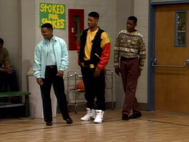 Nike White High Top Sneakers Outfit Idea of Will Smith in The Fresh Prince of Bel-Air S02E15 (2)