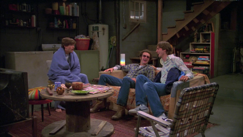 Nike White Shoes, Jean Pants and Printed Shirt of Ashton Kutcher as Michael in That '70s Show