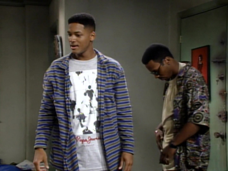 Pepe Jeans T-Shirt Outfit Worn by Will Smith in The Fresh Prince of Bel-Air S04E02 (1)