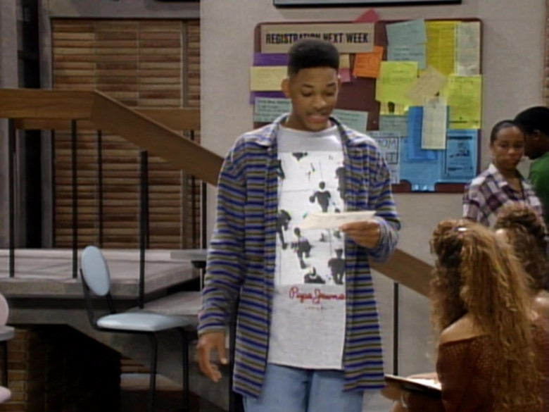 Pepe Jeans T-Shirt Outfit Worn by Will Smith in The Fresh Prince of Bel-Air S04E02 (2)