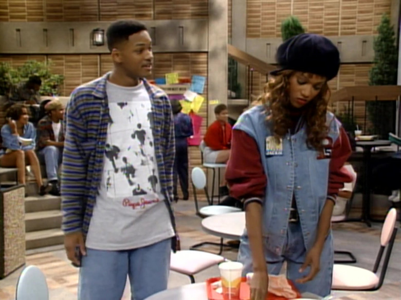 Pepe Jeans T-Shirt Outfit Worn by Will Smith in The Fresh Prince of Bel-Air S04E02 (3)