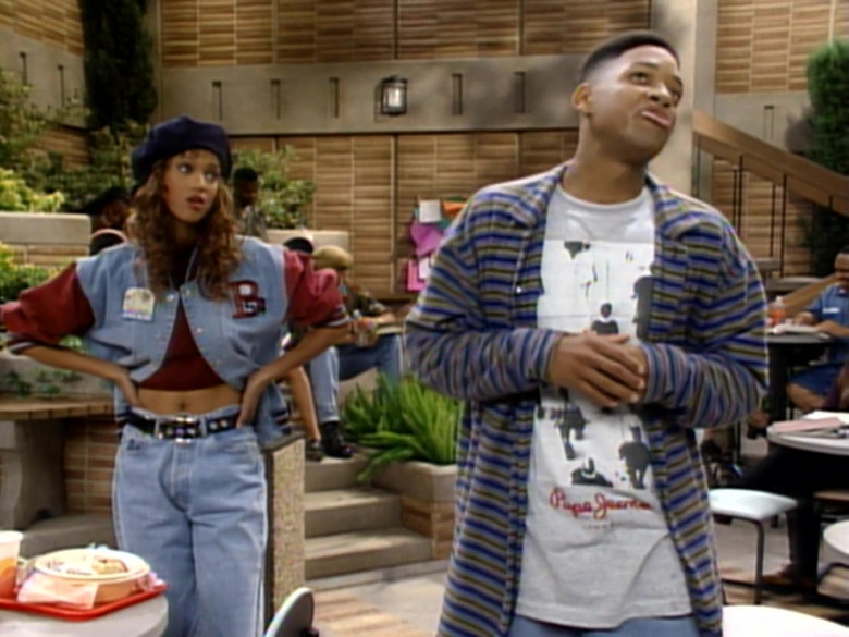 Pepe Jeans T-Shirt Outfit Worn by Will Smith in The Fresh Prince of Bel-Air S04E02 (4)