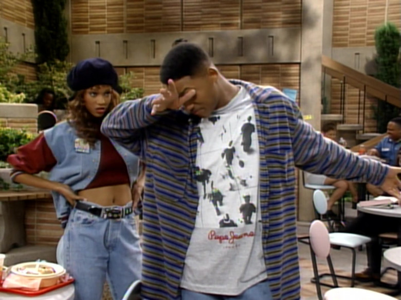 Pepe Jeans T-Shirt Outfit Worn by Will Smith in The Fresh Prince of Bel-Air S04E02 (5)