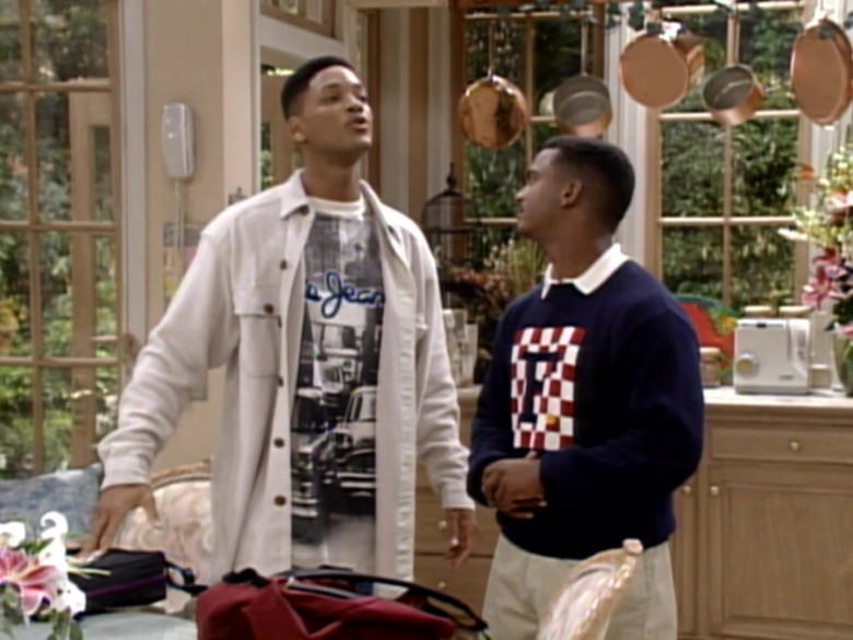 Pepe Jeans Tee and White Shirt of Will Smith in The Fresh Prince of Bel-Air S04E03 TV Show
