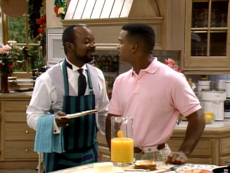 Polo Ralph Lauren Pink Short Sleeved Shirt Worn by Alfonso Ribeiro in The Fresh Prince of Bel-Air S04E06