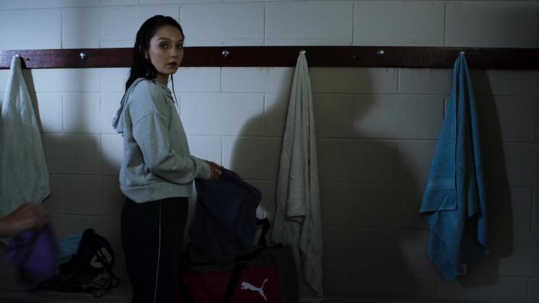 Puma Bag of Lauren Esposito in Swimming for Gold (2020)