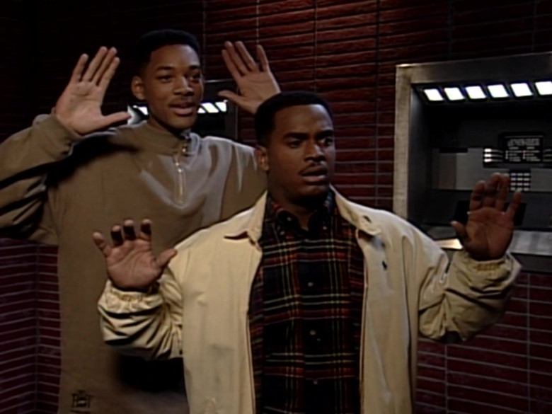 Ralph Lauren Jacket and Plaid Shirt Outfit of Alfonso Ribeiro in The Fresh Prince of Bel-Air S05E15 (2)