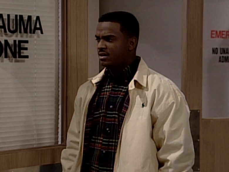 Ralph Lauren Jacket and Plaid Shirt Outfit of Alfonso Ribeiro in The Fresh Prince of Bel-Air S05E15 (4)