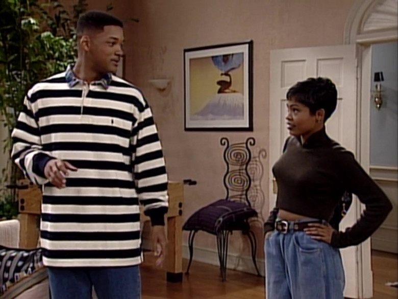 Ralph Lauren Long Sleeve Shirt Outfit of Will Smith in The Fresh Prince of Bel-Air S05E17 (2)