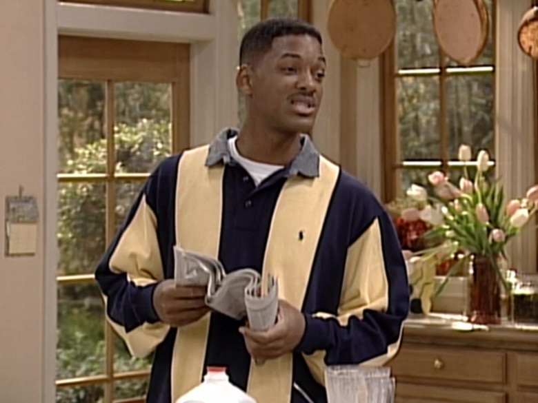 Ralph Lauren Oversized Long Sleeved Shirt Outfit of Will Smith in The Fresh Prince of Bel-Air S06E04 (1)