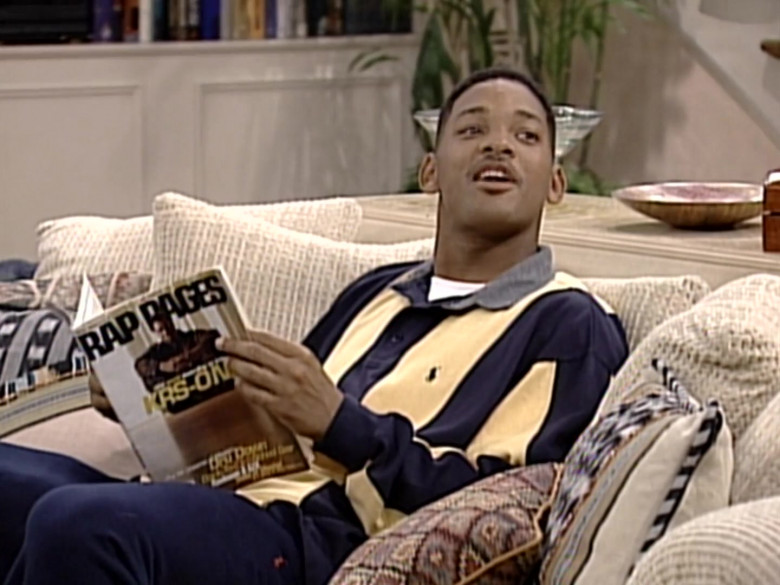 Ralph Lauren Oversized Long Sleeved Shirt Outfit of Will Smith in The Fresh Prince of Bel-Air S06E04 (4)