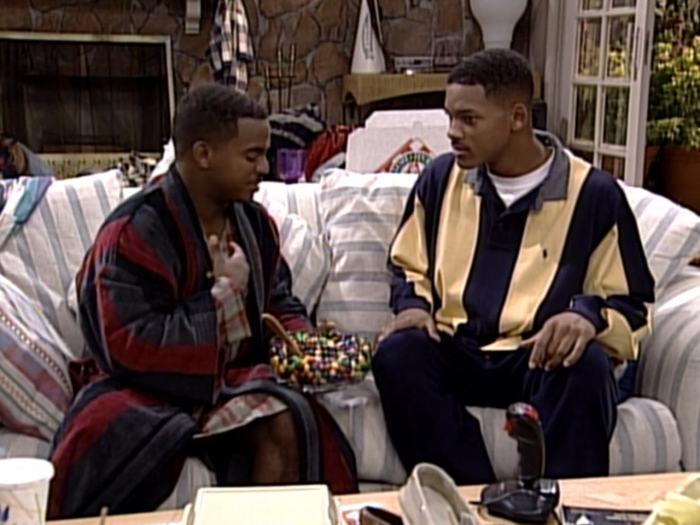 Ralph Lauren Oversized Long Sleeved Shirt Outfit of Will Smith in The Fresh Prince of Bel-Air S06E04 (5)