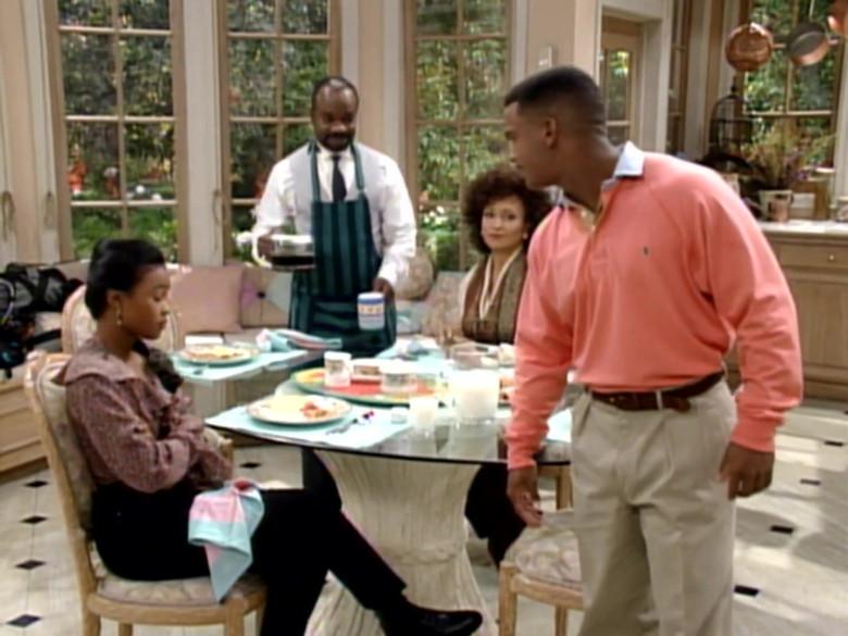 Ralph Lauren Pink Long Sleeved Shirt Worn by Alfonso Ribeiro as Carlton in The Fresh Prince of Bel-Air S04E10 (2)