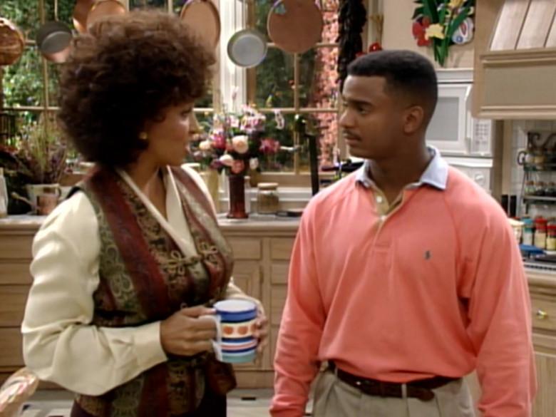 Ralph Lauren Pink Long Sleeved Shirt Worn by Alfonso Ribeiro as Carlton in The Fresh Prince of Bel-Air S04E10 (4)