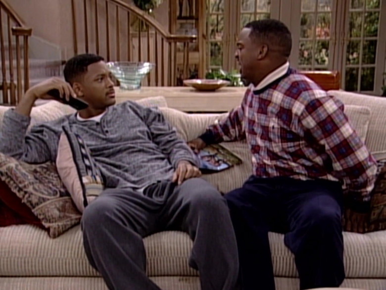 Ralph Lauren Plaid Sweatshirt Outfit of Alfonso Ribeiro as Carlton Banks in The Fresh Prince of Bel-Air S06E20 (2)