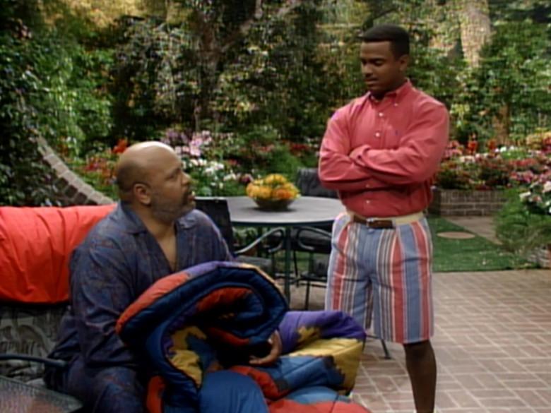 Ralph Lauren Red Long Sleeve Shirt Worn Alfonso Ribeiro as Carlton in The Fresh Prince of Bel-Air S04E22 (2)