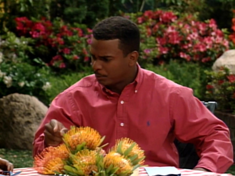 Ralph Lauren Red Long Sleeve Shirt Worn Alfonso Ribeiro as Carlton in The Fresh Prince of Bel-Air S04E22 (3)