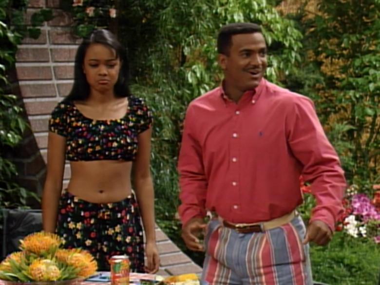 Ralph Lauren Red Long Sleeve Shirt Worn Alfonso Ribeiro as Carlton in The Fresh Prince of Bel-Air S04E22 (4)