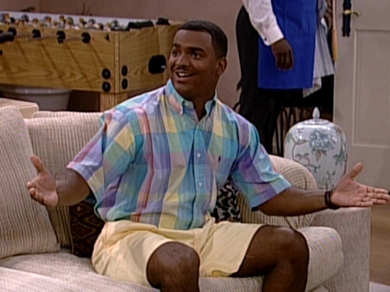 Ralph Lauren Short Sleeve Shirt and Shorts Outfit of Alfonso Ribeiro as Carlton Banks in The Fresh Prince of Bel-Air (1)